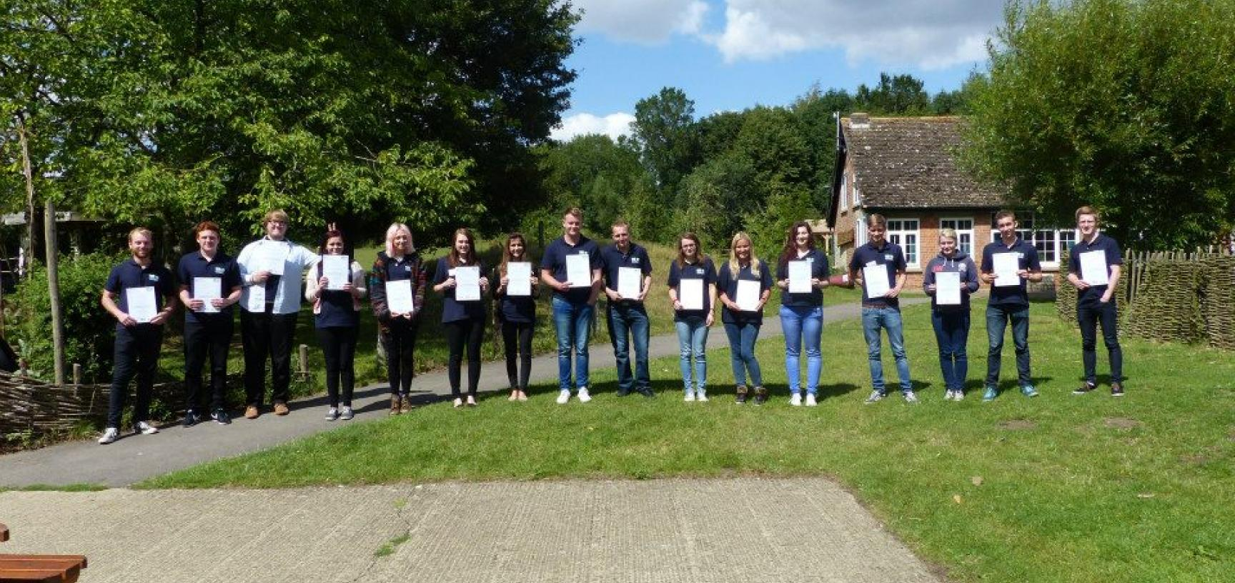 Apprentices receiving their certificates